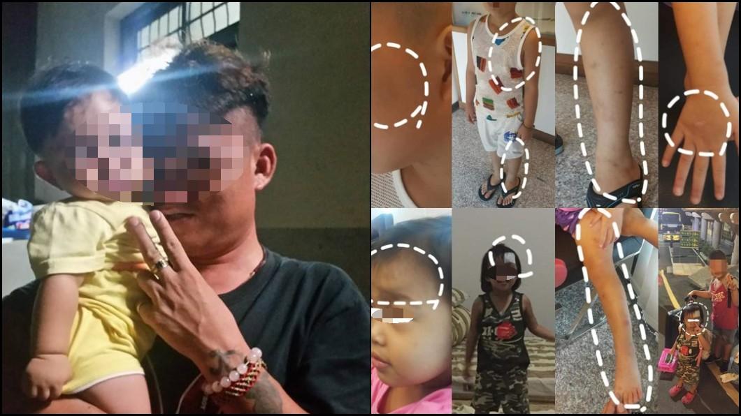 圖/翻攝臉書爆料公社 拿刀割妻頸、踹斷6歲兒肋骨!狠夫:打妳孩子剛好而已