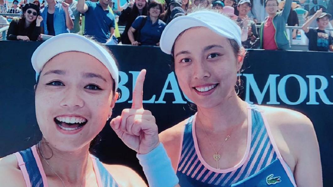 圖/翻攝自詹詠然 Latisha Chan臉書 泛太平洋女網賽 詹詠然、詹皓晴4強門票入袋