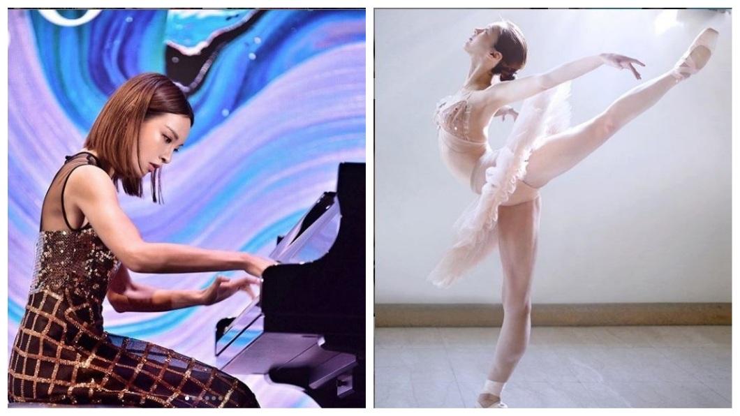 美女鋼琴家動靜皆宜,會彈琴也會跳芭蕾舞,平日也熱愛健身。(圖/翻攝自IG)