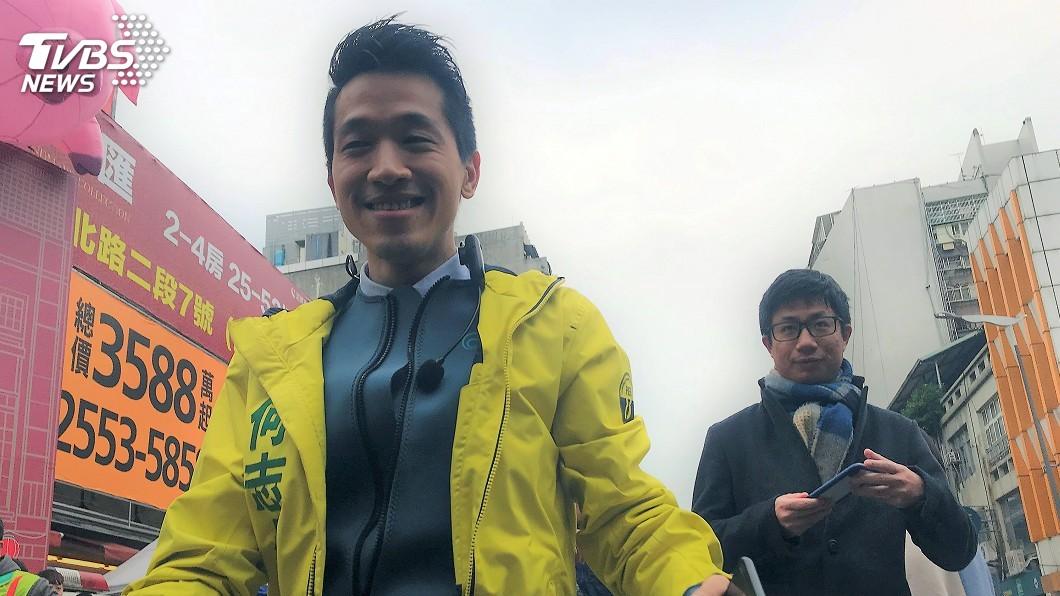 圖/中央社 韓國瑜北上為陳炳甫站台 何志偉:由選民評斷
