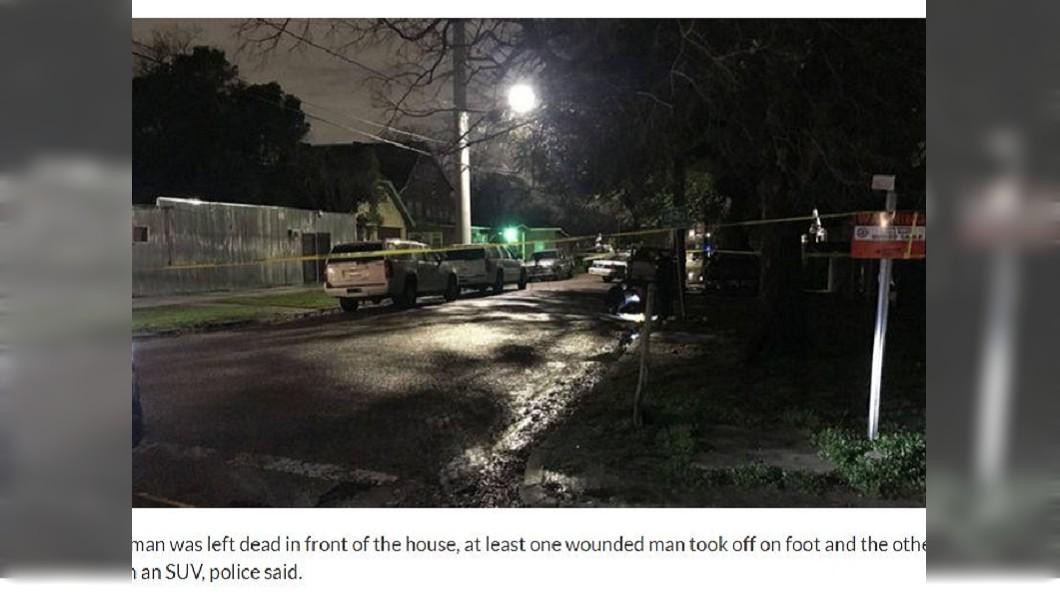 休士頓日前發生一起民宅搶案,5名歹徒反遭屋主狂轟釀3死2傷。(圖/翻攝自KPRC Click2Houston)