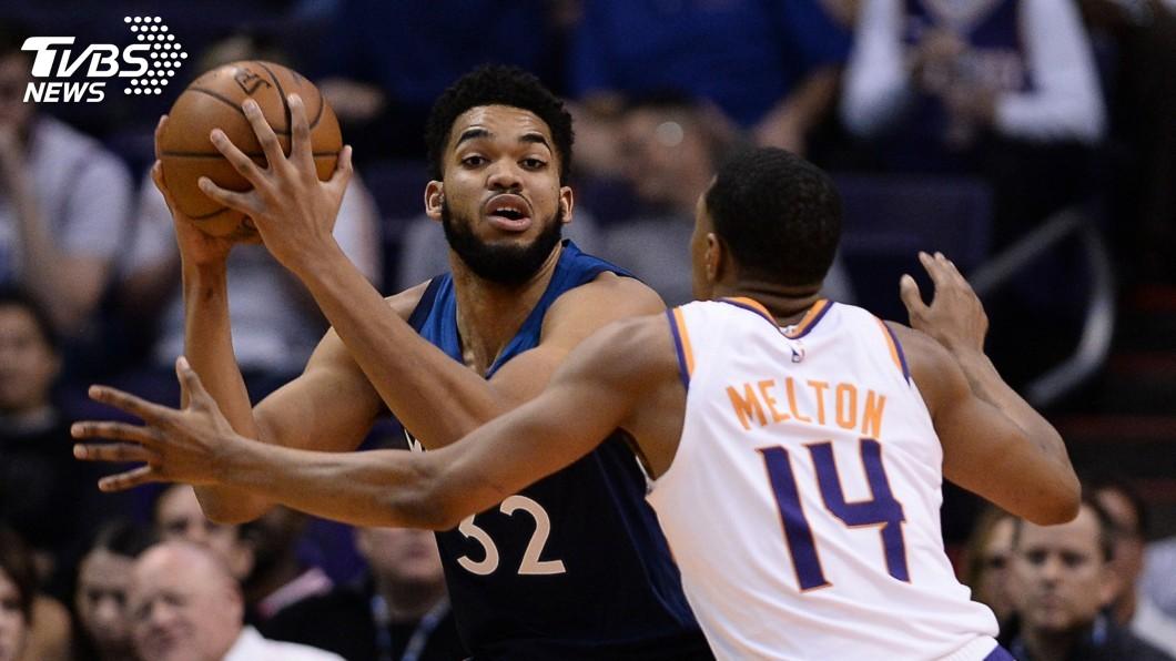 圖/達志影像路透社 湯斯飆25分 NBA灰狼輕取太陽
