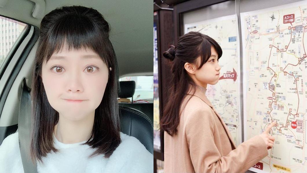 左為高嘉瑜,右為日本模特兒。圖/翻攝自高嘉瑜臉書、photomasyuro IG 日模「大眼嘟嘴」太神似 高嘉瑜驚:連我媽都問我