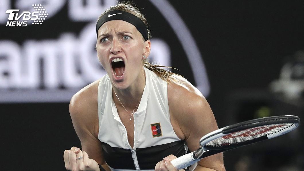圖/達志影像美聯社 克菲托娃首度殺進澳網決賽 瞄準球后寶座