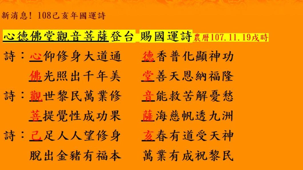 五甲關帝廟國運籤「中上」,籤詩內容如圖。翻攝/財團法人五甲協善心德堂(五甲關帝廟)