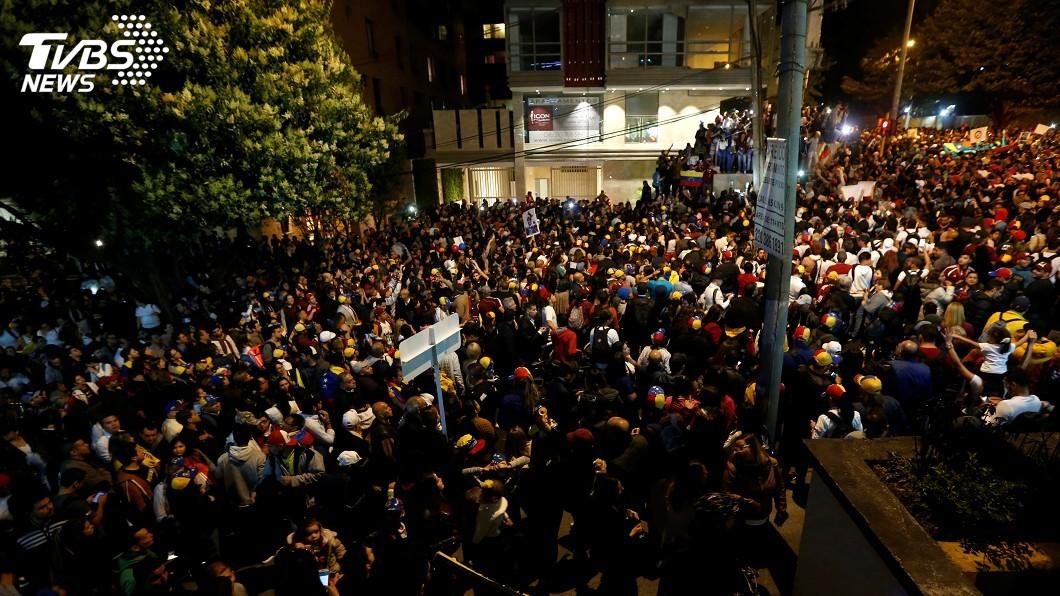 圖/達志影像路透社 委內瑞拉政局動盪 美令非緊急使館人員撤離