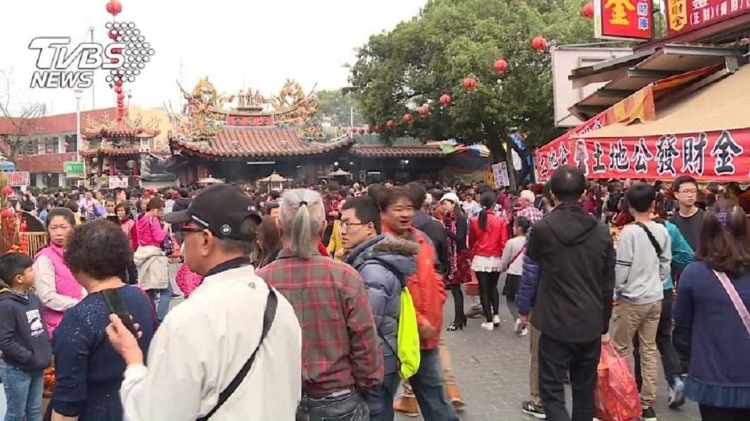 圖/TVBS資料畫面 遇過年就擠爆!紫南宮香火超旺 背後原因曝光