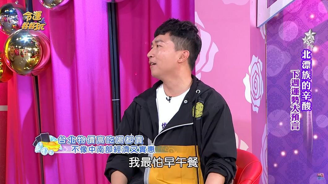 張立東表示台北有「早午餐文化」,但花費驚人讓他相當害怕。圖/翻攝自 YouTube
