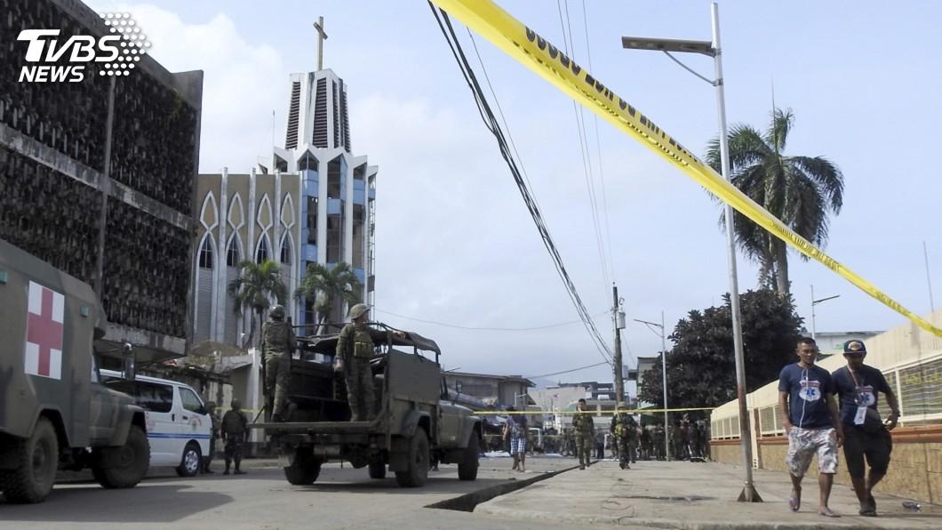 圖/達志影像美聯社 菲律賓南部教堂爆炸至少18死 IS宣稱犯案