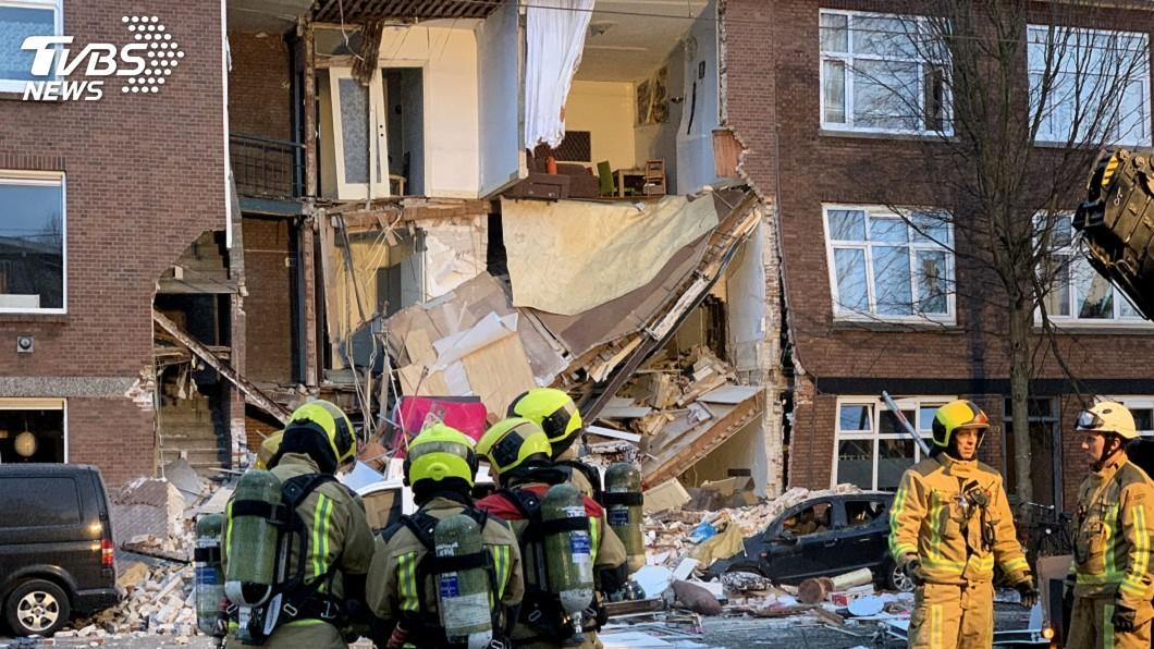 圖/達志影像美聯社 荷蘭海牙疑發生瓦斯氣爆 民宅半倒9人受傷