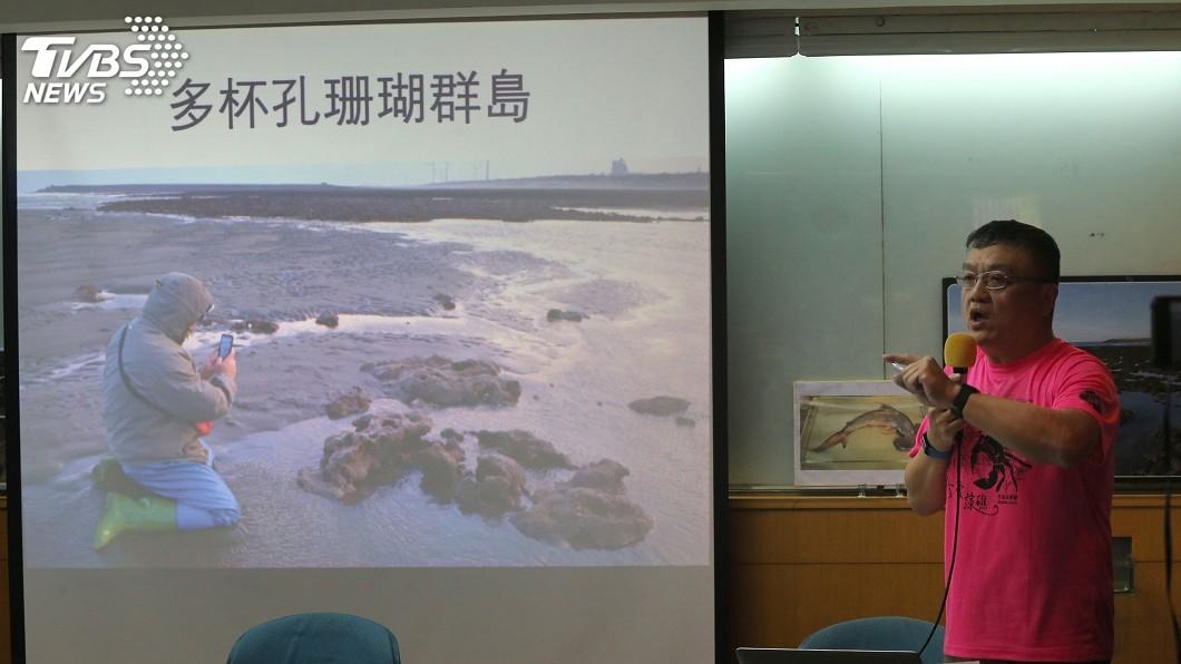 圖/中央社 中油三接站開發範圍 中研院發現多杯孔珊瑚島