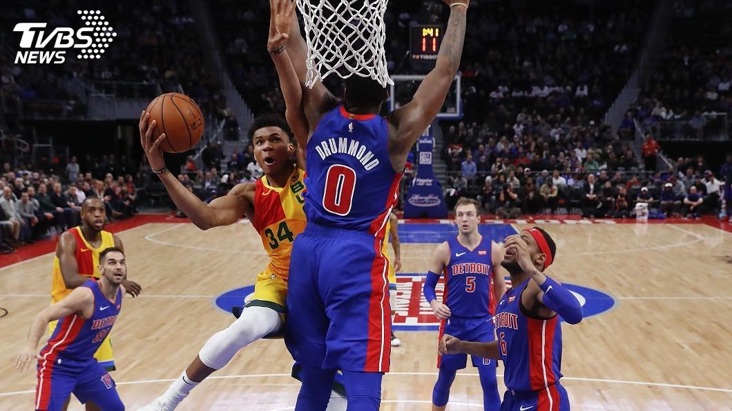 圖/達志影像美聯社 NBA公鹿客場輕取活塞 續保全聯盟戰績最佳