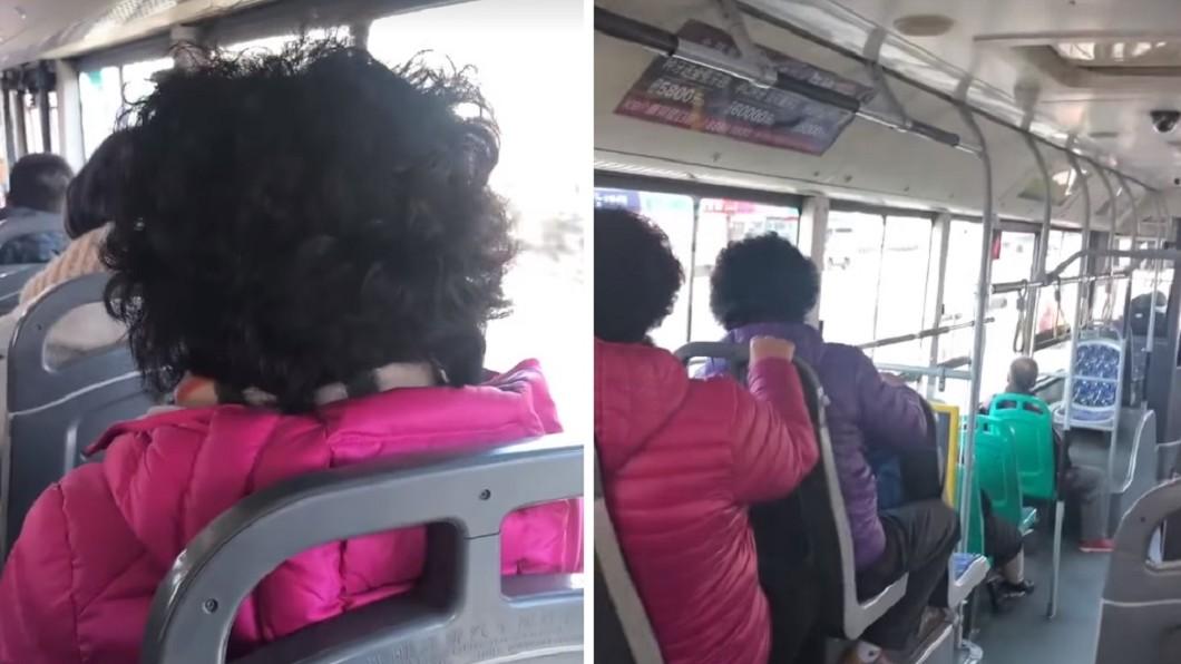 網友和媽媽上公車發現,有另外2名婦人也有類似的髮型、外套。(圖/翻攝自 我和基友的日常 微博) 陪母燙髮!一上車大驚「找不到人」...怎麼3個花媽