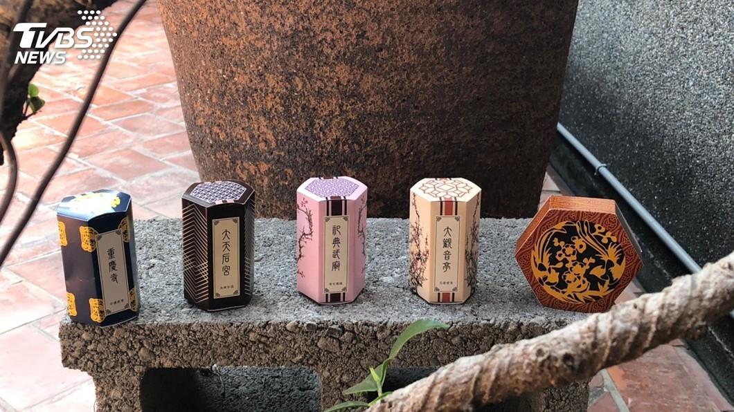 圖/中央社 新年願望求脫單 台南4宮廟過年推「月老口紅」