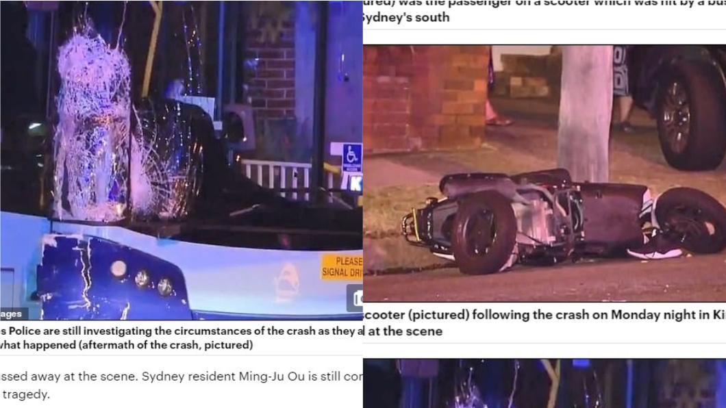 報導指出,肇事司機疑似邊開車邊玩手機釀禍。圖/翻攝自《每日郵報》 在澳洲外送UberEats 2台男遭公車撞飛被輾慘死