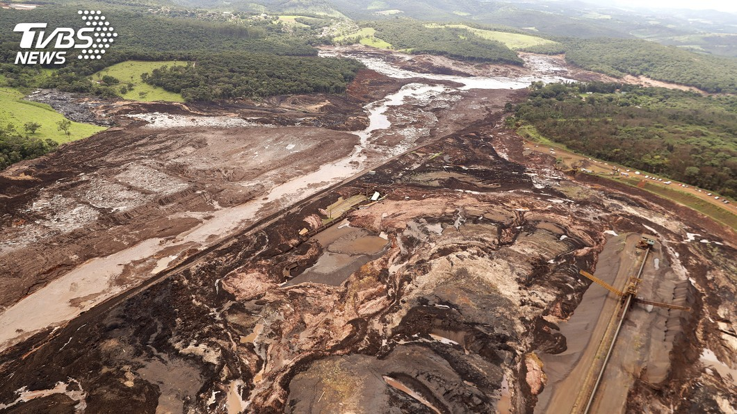 圖/達志影像美聯社 巴西水壩潰決已110死 238人失蹤