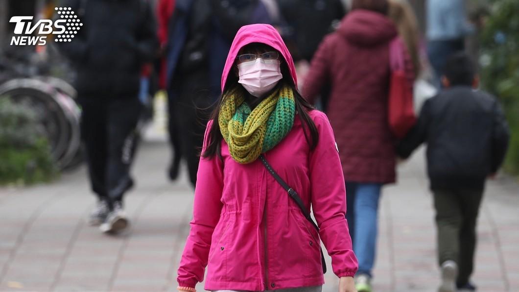 圖/中央社 冷氣團來襲!今晚至明晨最冷  低溫下探12度
