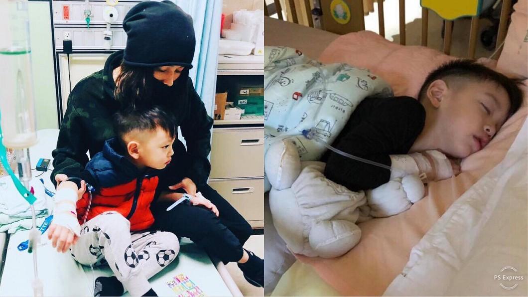 圖/翻攝自徐若瑄臉書 3歲兒高燒上吐下瀉27次 徐若瑄「一句話」逼哭萬人