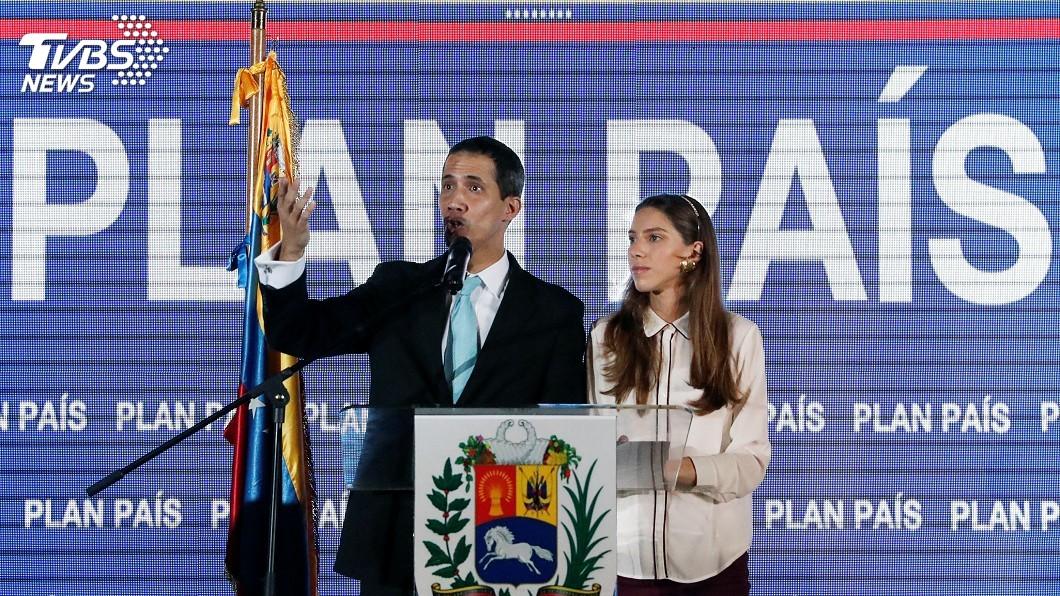 圖/達志影像路透社 委內瑞拉反對派領袖瓜伊多:安全部隊威脅我家人