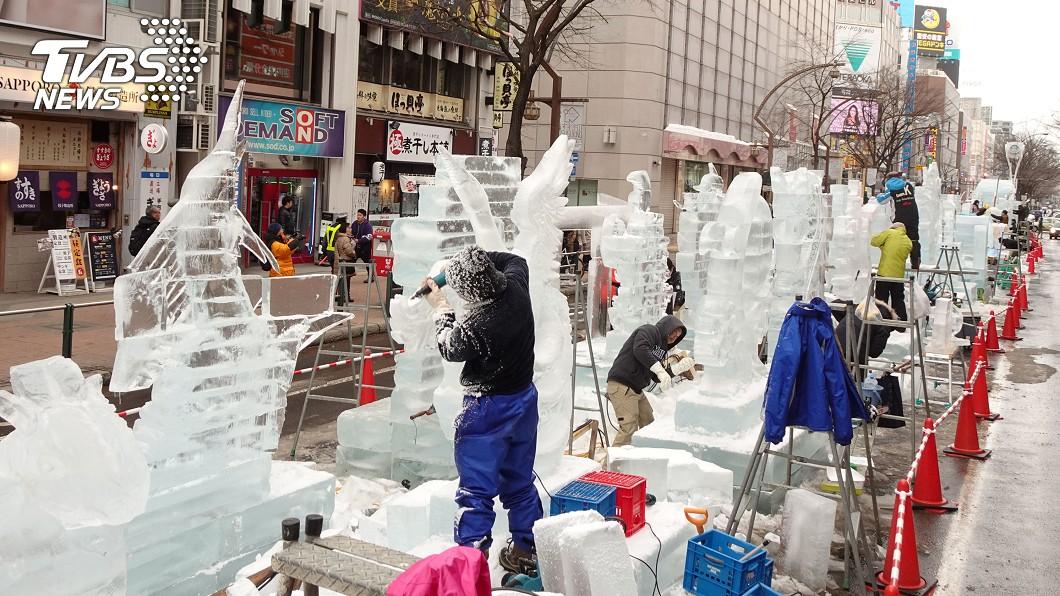 第70屆日本北海道札幌雪祭大通會場和薄野會場的展期到11日為止。(圖/中央社)