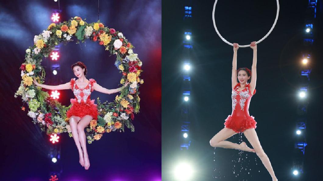 林志玲春晚表演水上芭蕾舞。圖/翻攝自林志玲工作室微博 跳水上芭蕾遭爆「最後一天才來」 林志玲經紀人還原真相
