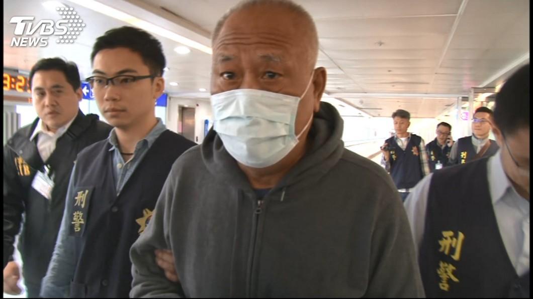 圖/TVBS 吳健保逃亡菲國遭押解返台 暫押台北分監