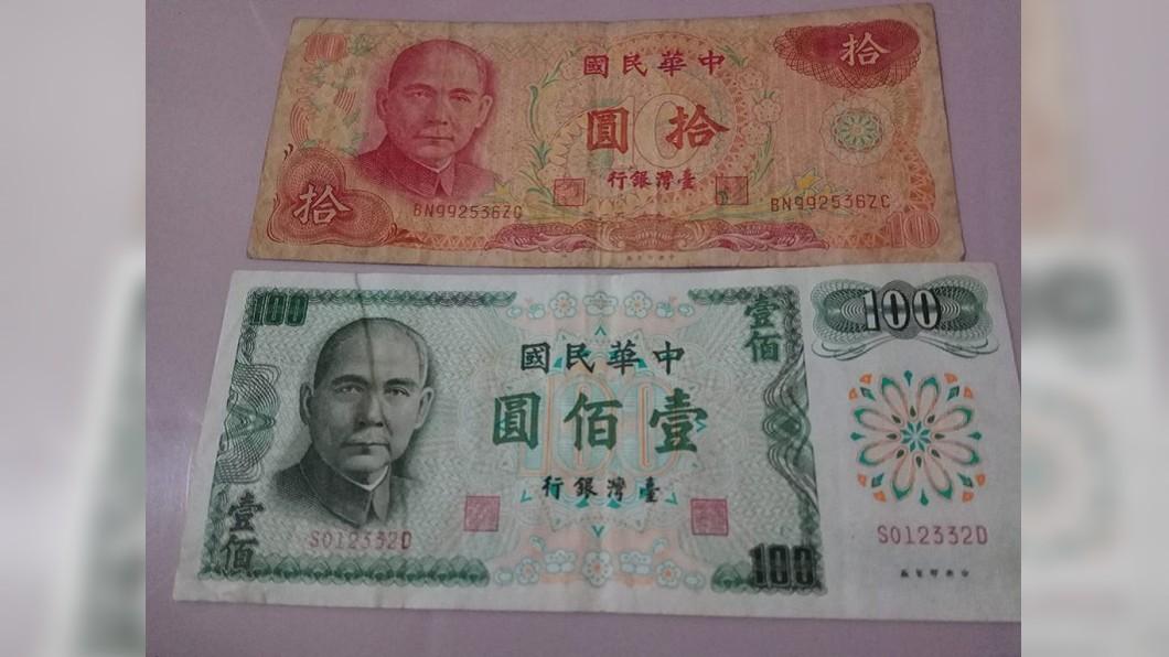 早期的100元紙鈔是綠色的。(圖/翻攝自爆怨公社)