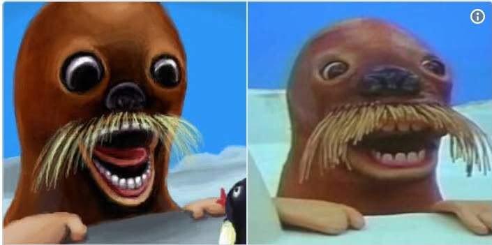 企鵝家族裡嚇人的一幕,現在看到還是讓網友在內心大罵「J三小啊!!!」。(圖/翻攝自Twitter)