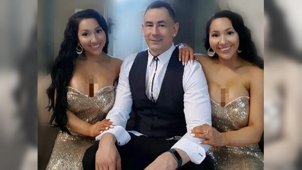 澳洲雙胞胎共享男友。圖/翻攝自安娜與露西Instagram 姊妹花整成複製人共享男友 盼婚後天天「3人行」