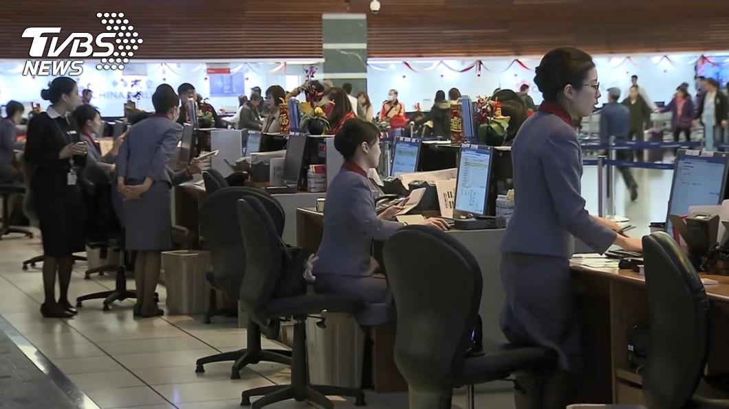 圖/TVBS 華航3年2罷工!地勤忙到翻 嘆「被犧牲永遠是我們」