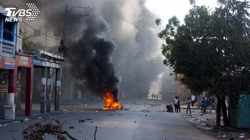 圖/達志影像美聯社 暴力抗議癱瘓太子港 海地總統依舊神隱