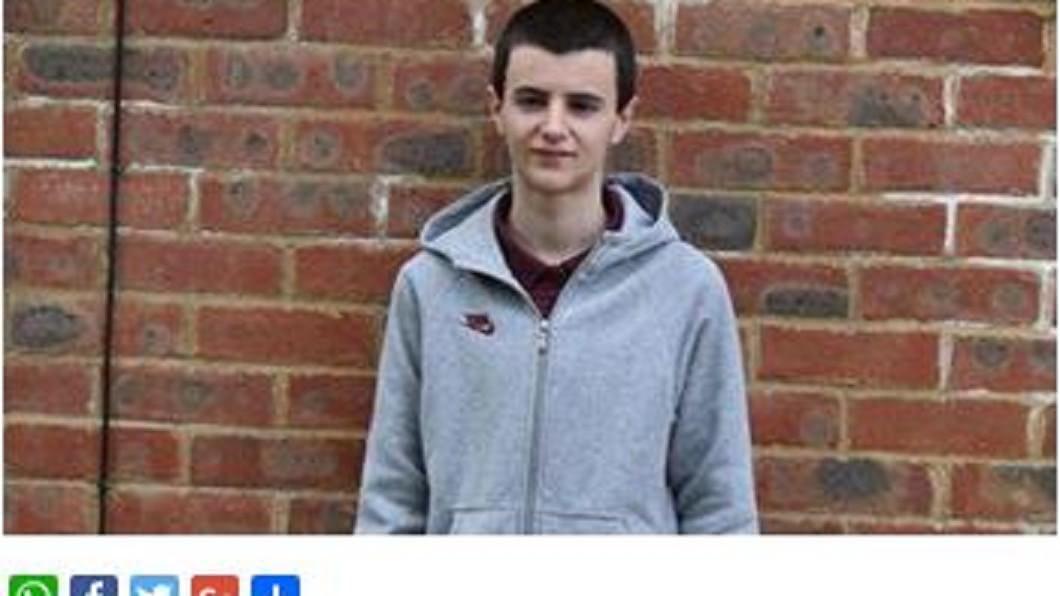 「英國最年輕小爸爸」阿飛(Alfie)。圖/翻攝自《GoodTimes》 「英國最年輕小爸爸」成年了! 自爆13歲就戴綠帽
