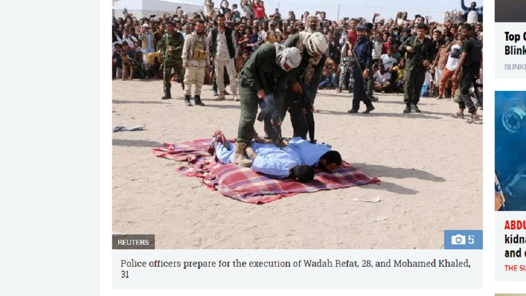 葉門兩名男子因性侵、殺害男童,上週被公開槍決。圖/翻攝自 太陽報 性侵男童再割喉 2犯遭公開槍決…百人歡呼叫好