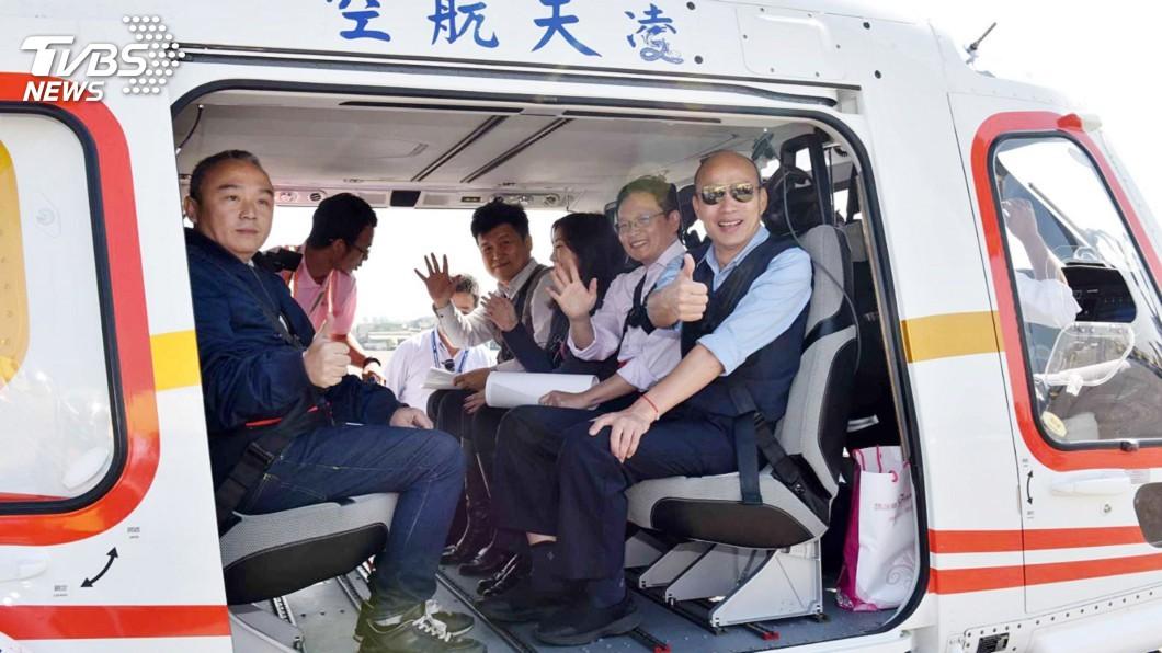 圖/中央社 愛河畔建摩天輪 韓國瑜搭機視察找到6可行地點