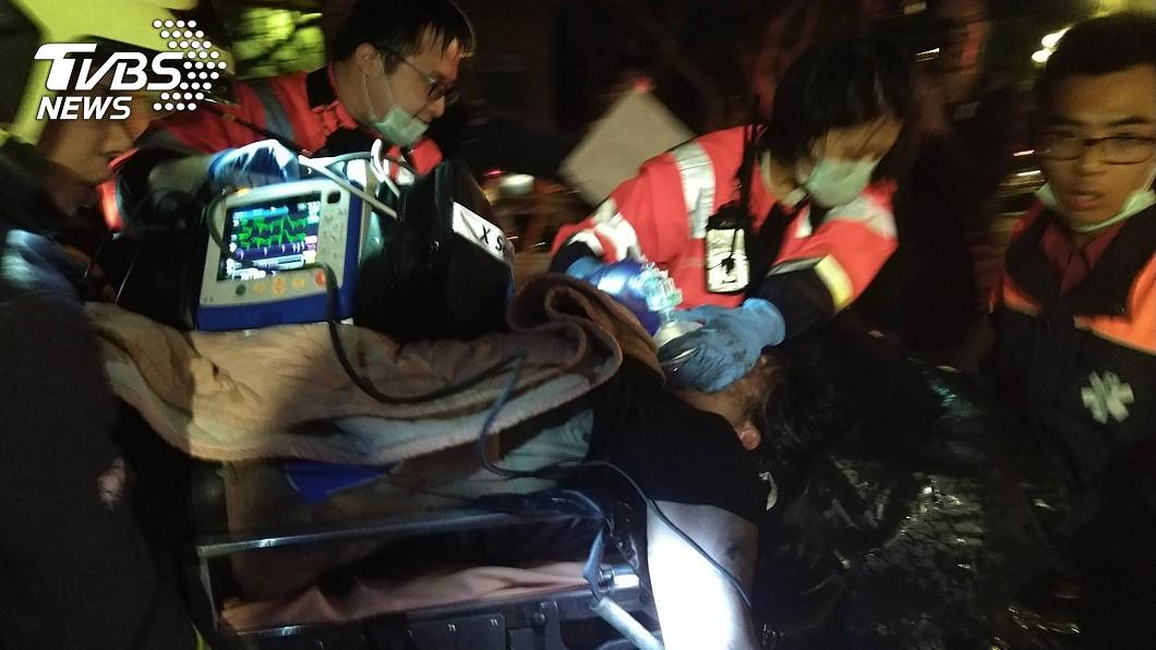 圖/中央社 扯!文大火災害2女重傷 北市證實「失火處是違建」