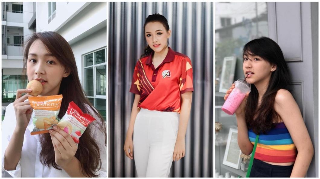該名正妹目前是泰國法政大學的啦啦隊長,她的母親則是27年前的隊長。(圖/翻攝自臉書)