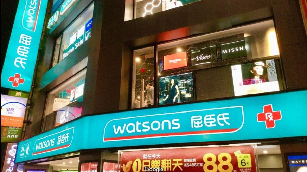 不少大陸觀光客來台灣,喜歡到屈臣氏買商品。(圖/翻攝自Google Map) 冒充會員被識破 陸客砸店員嗆:沒拿刀劃妳就不錯了