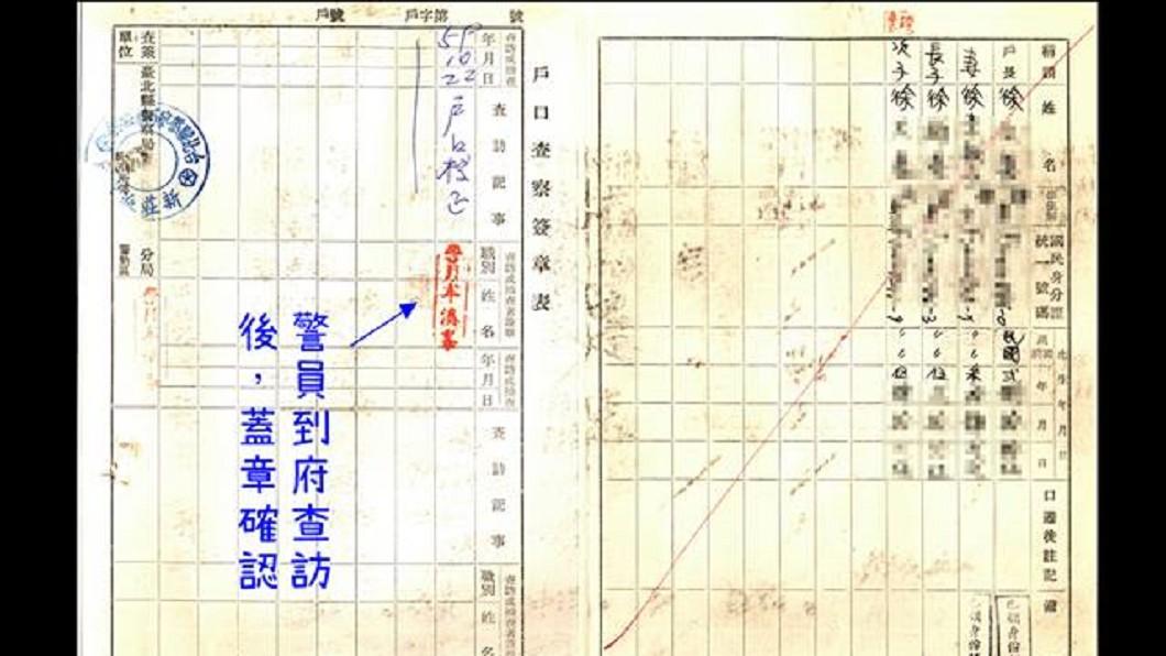 內政部臉書分享這張民國59年的戶口名簿,勾起不少網友被查戶口的緊張回憶。圖/翻攝自 內政部 臉書
