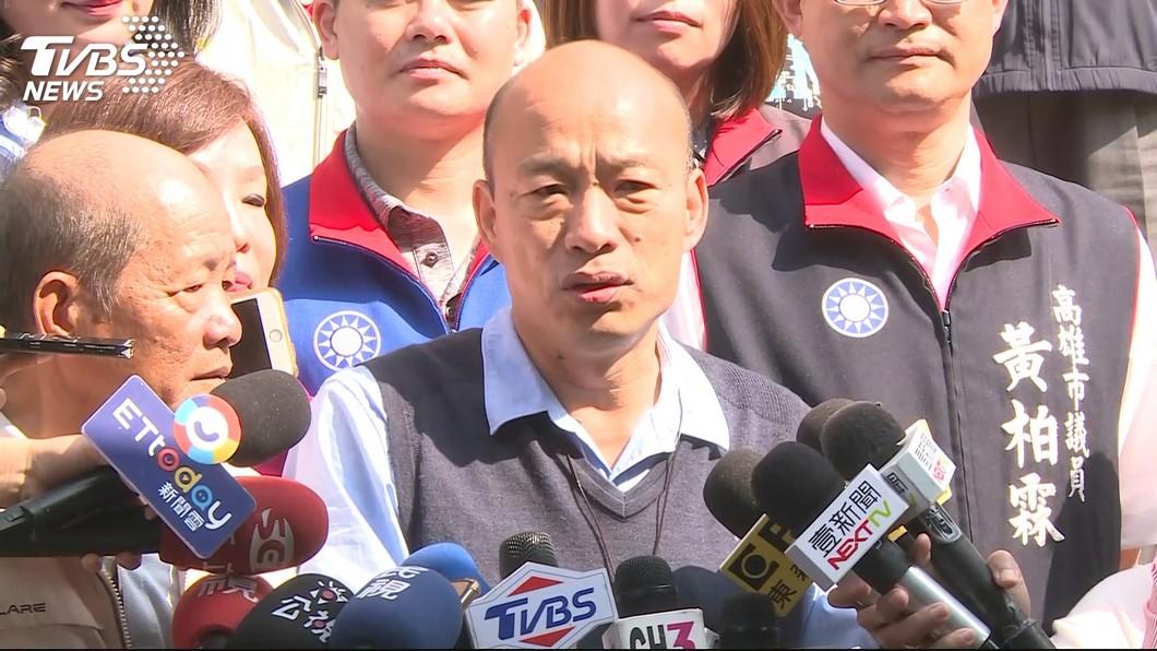 圖/TVBS資料畫面 來了高雄嚇一跳!韓國瑜受訪與主持人「互跳題」