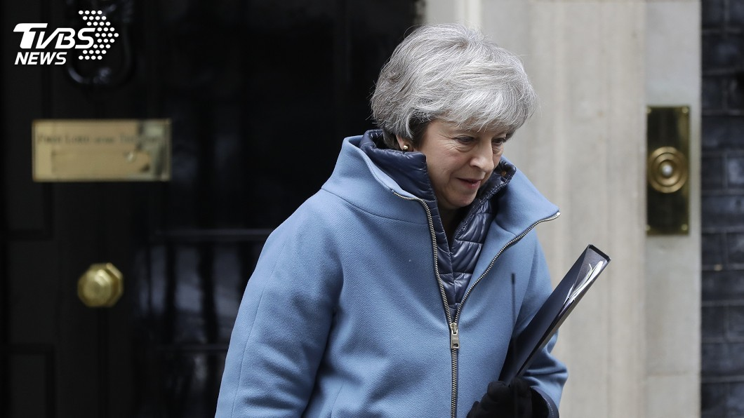 圖/達志影像美聯社 英國會表決脫歐修正策略 梅伊再嚐挫敗