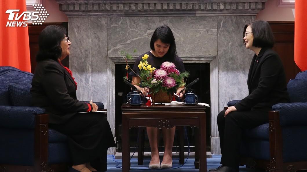 圖/中央社 見馬紹爾駐台大使 蔡總統:願在各領域密切合作