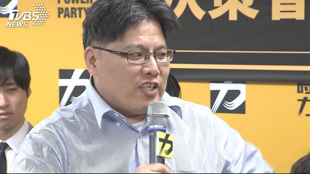 圖/TVBS 時力震撼彈!  邱顯智宣布辭去黨主席