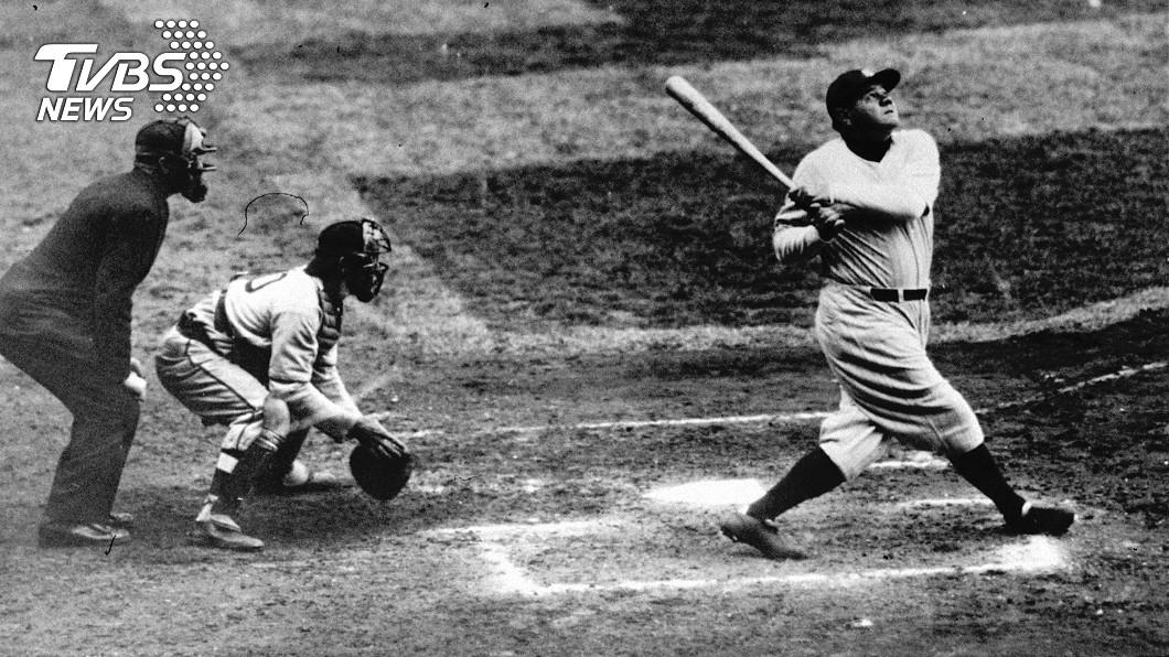 美國棒球傳奇人物貝比魯斯。圖/達志影像美聯社