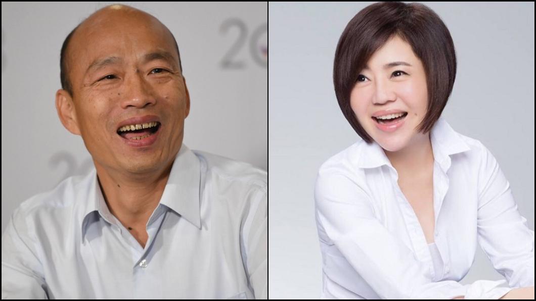 圖/(左)中央社資料照,(右)翻攝臉書 為何韓國瑜這麼有魅力?于美人「6字」點破關鍵