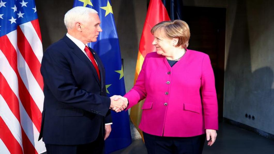 圖/達志影像路透 反川普大集結 慕尼黑會議.梅克爾先發難