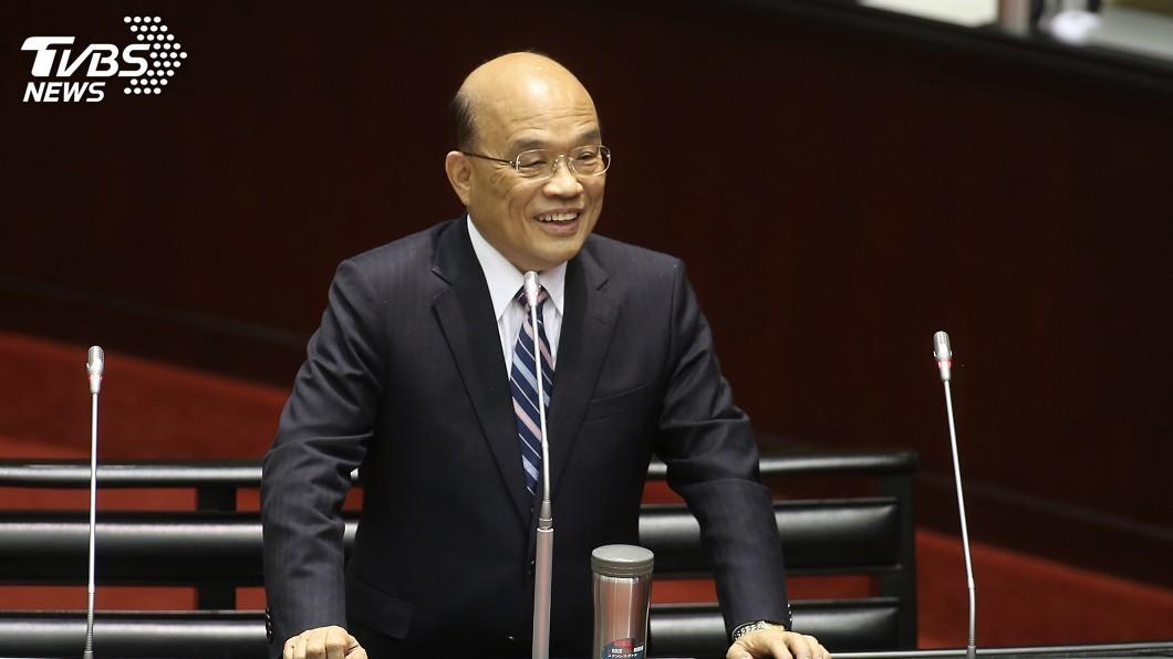 圖/中央社 簽兩岸和平協議須公投 蘇貞昌:沒有衝著誰