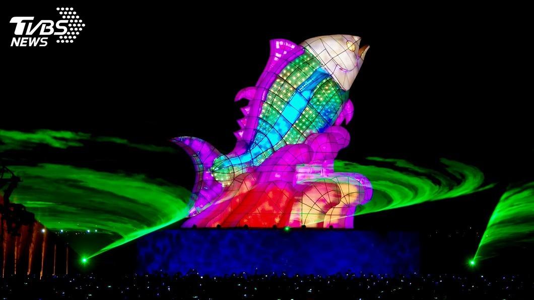 圖/中央社 台灣燈會首度擁有海陸空燈區 耗資5億餘元