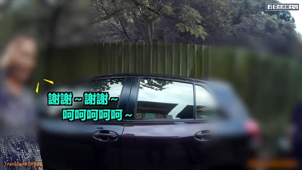 結果員警在隔壁巷找到愛車,讓車主羞喊不好意思。圖/臺北波麗士