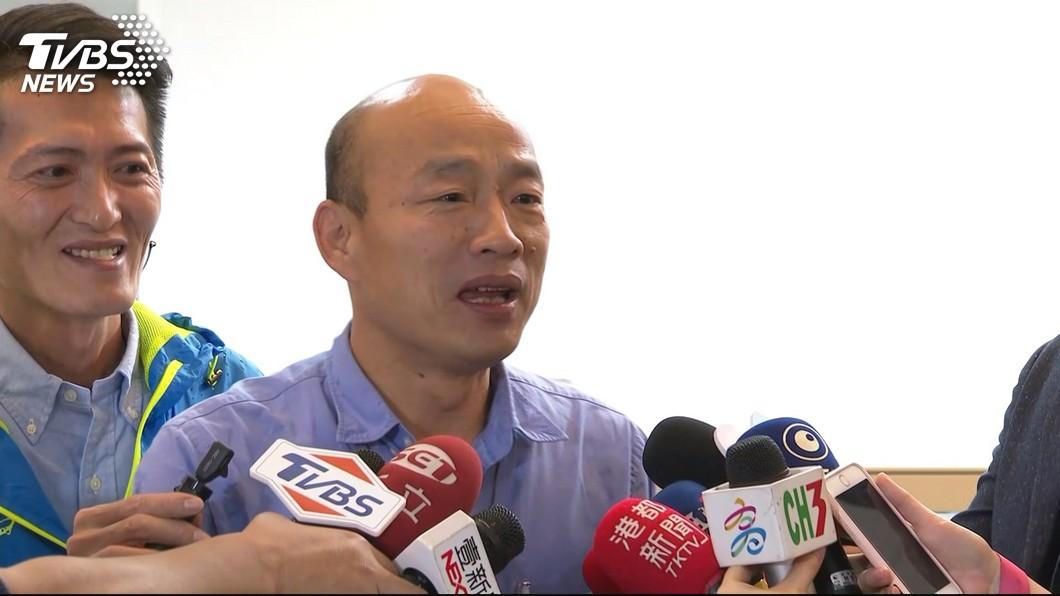 韓國瑜在總統民調中,以29%的支持度獲得第一。(圖/TVBS) 國民黨太陽們的支持度曝光 綠媒董驚:「他」竟意外低