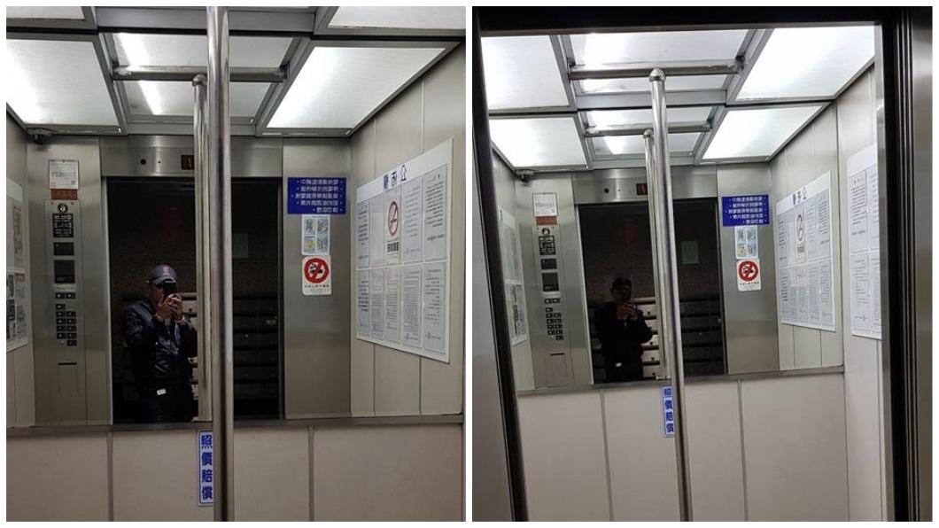 打開電梯門赫然驚見一根鋼管杵在中間,民眾不解提出疑問。(圖/翻攝自爆怨公社) 打開電梯門…赫見中間立鋼管 他疑惑網解真相:長知識了